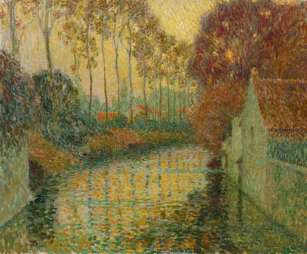 Canal in Autumn (Gisors) - Henri Le Sidaner