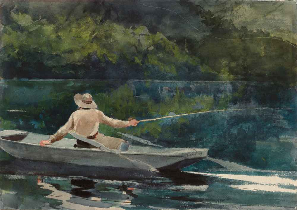 Casting, Number Two - Winslow Homer