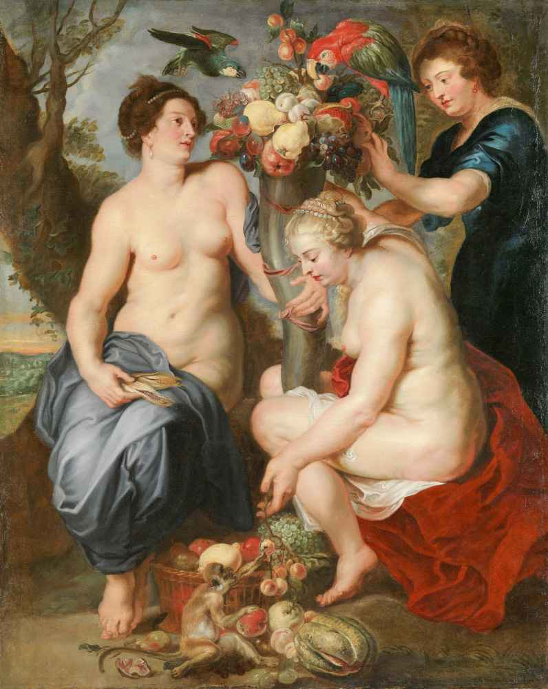 Ceres and Two Nymphs - Frans Snyders
