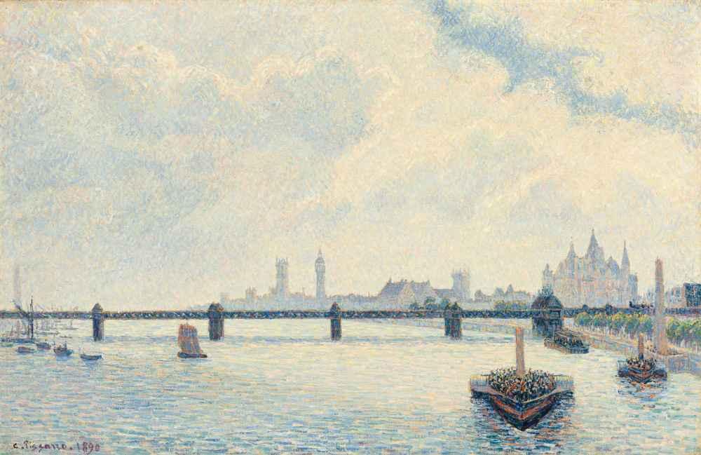 Charing Cross Bridge, London - Camille Pissarro