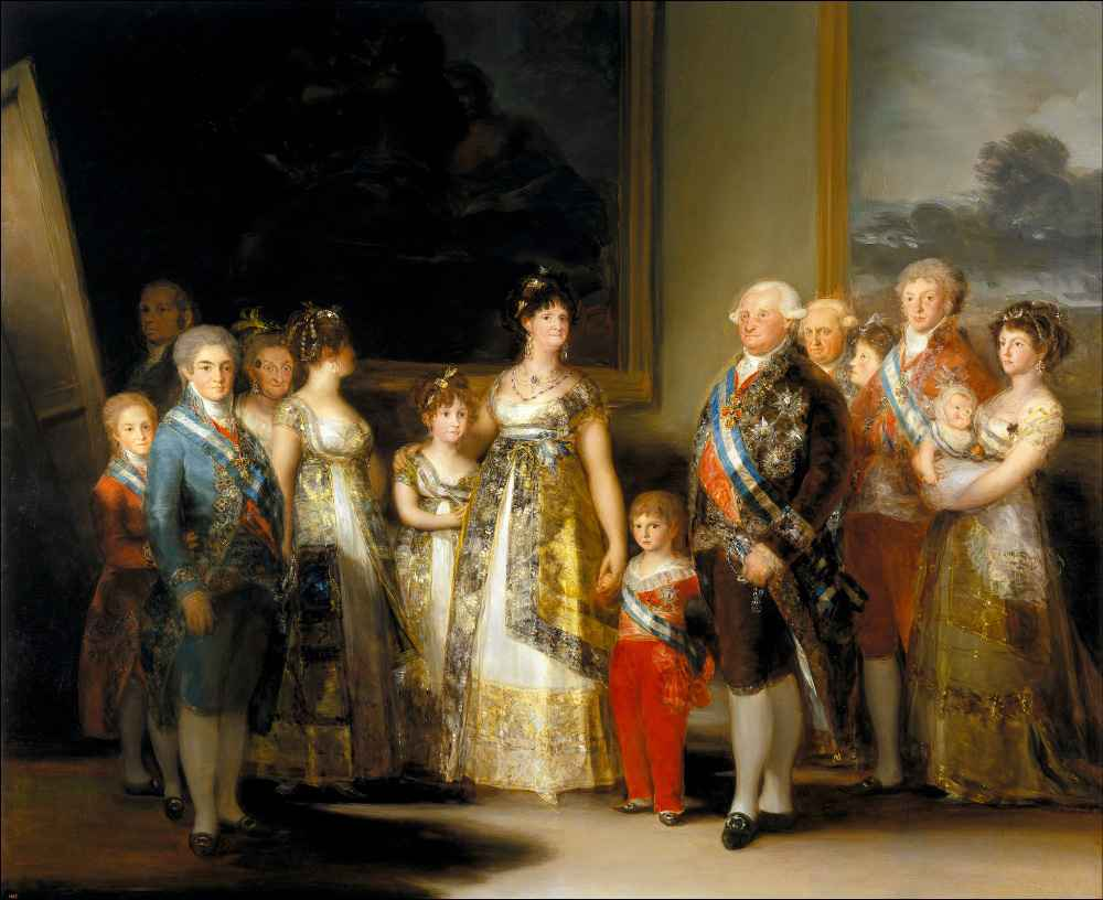 Charles IV of Spain and His Family 2 - Francisco Goya