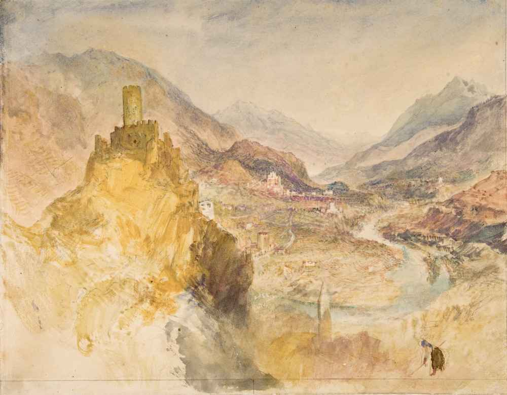 Chatel Argent and the Val dAosta from above Villeneuve - Joseph Mallor