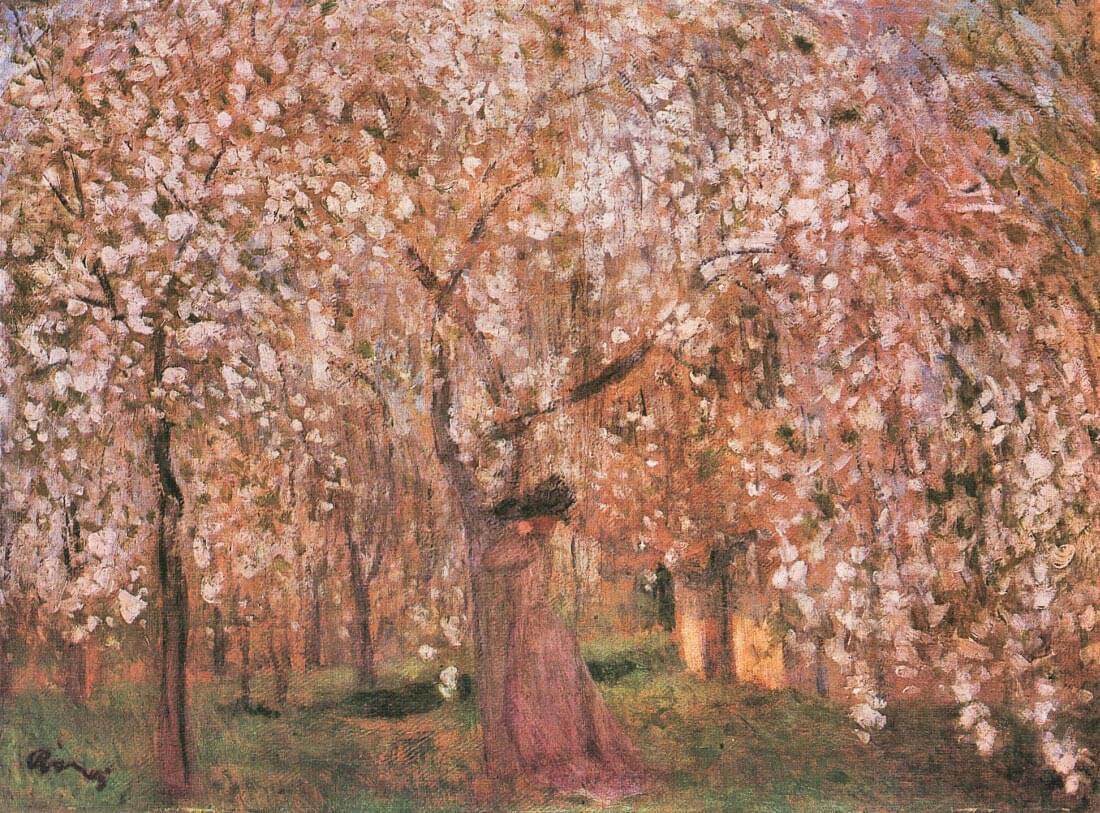 Cherry tree blooms - Joseph Rippl-Ronai