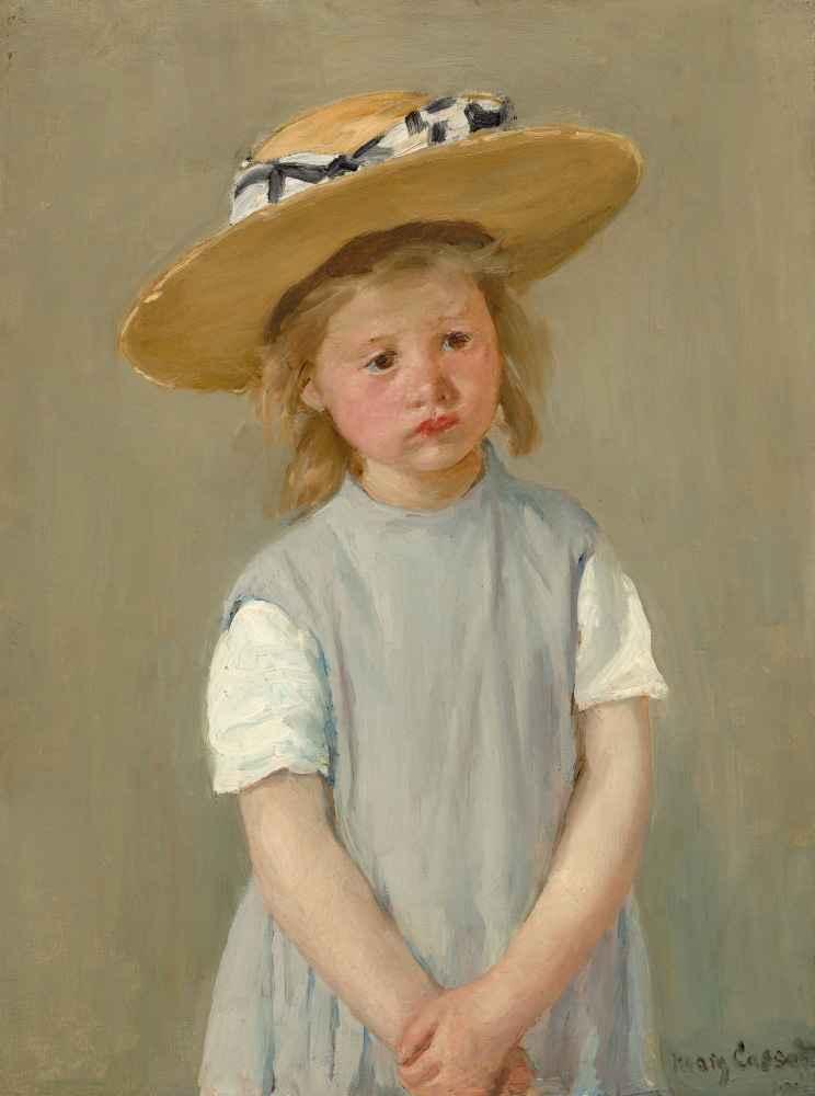 Child in a Straw Hat - Mary Cassatt