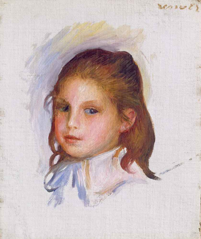 Child with Brown Hair - Auguste Renoir