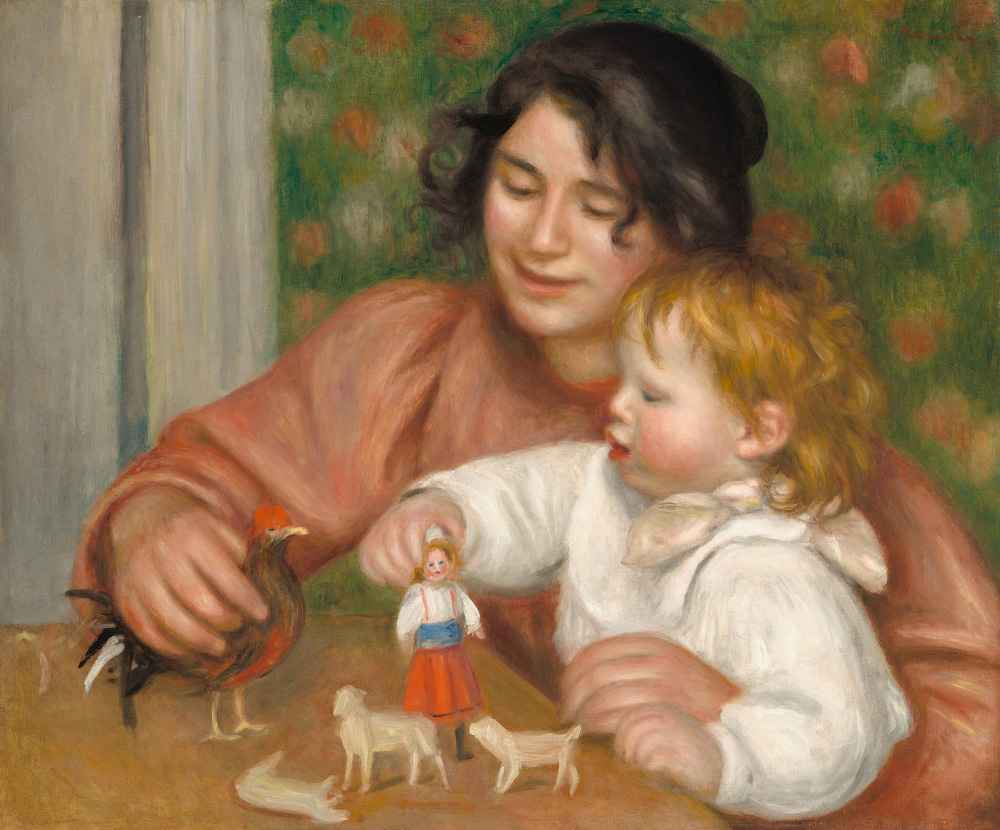 Child with Toys - Gabrielle and the Artists Son, Jean - Auguste Renoir