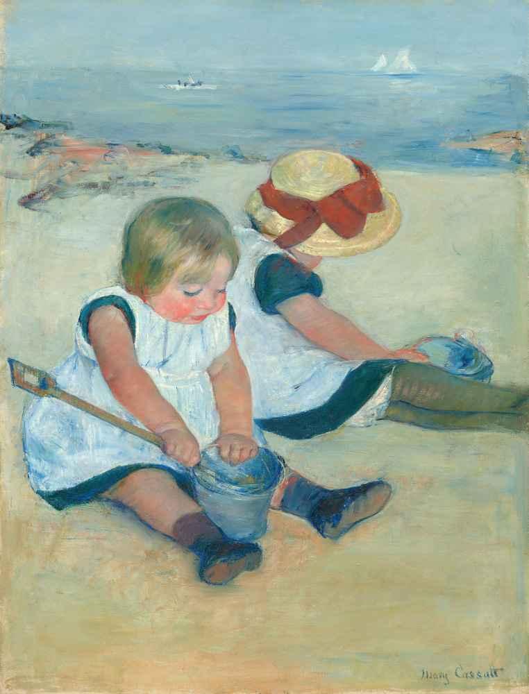 Children Playing on the Beach - Mary Cassatt
