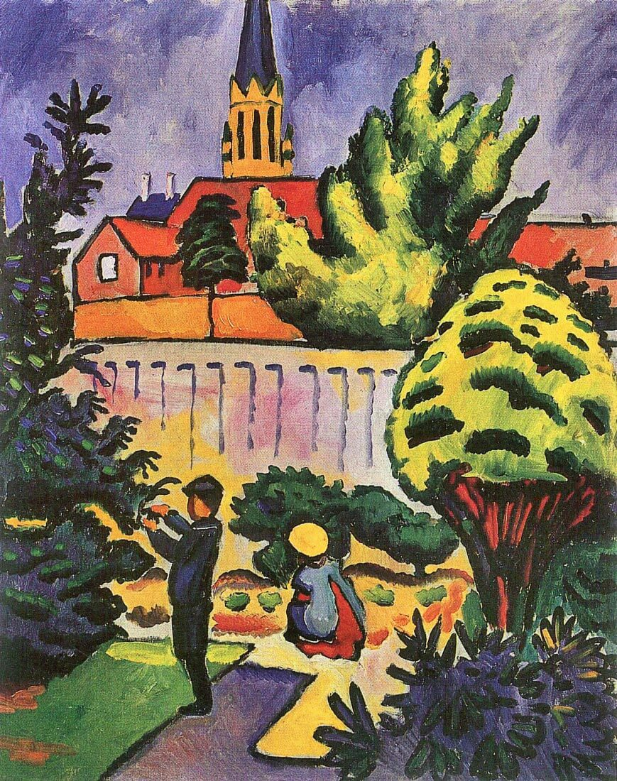 Children in the Garden - August Macke