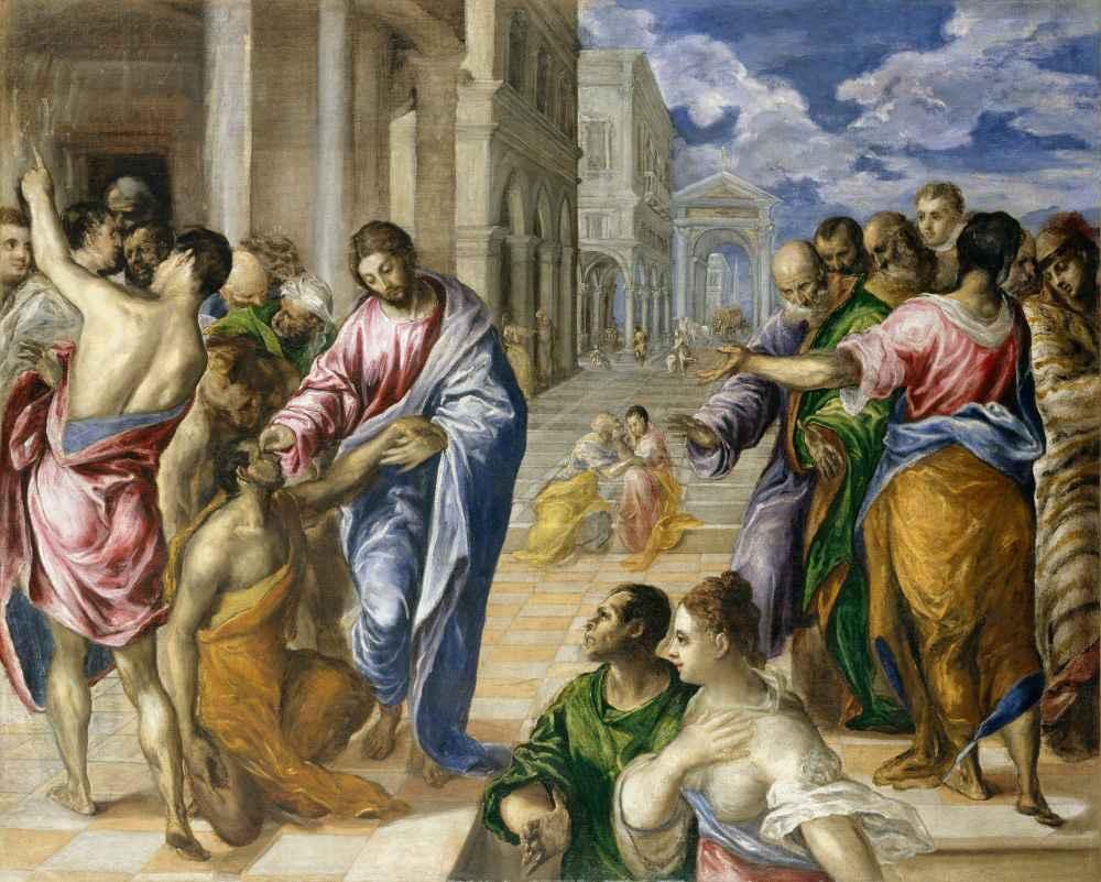 Christ Healing the Blind - El Greco