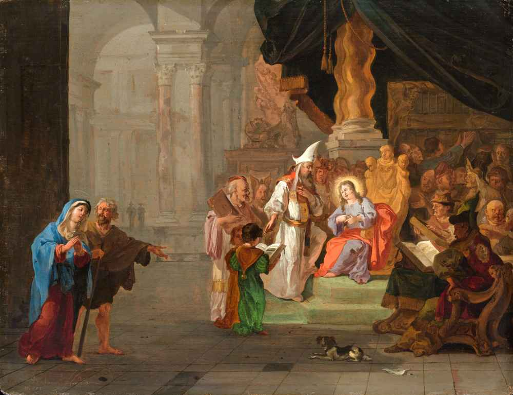 Christ among the Doctors - Abraham Hondius