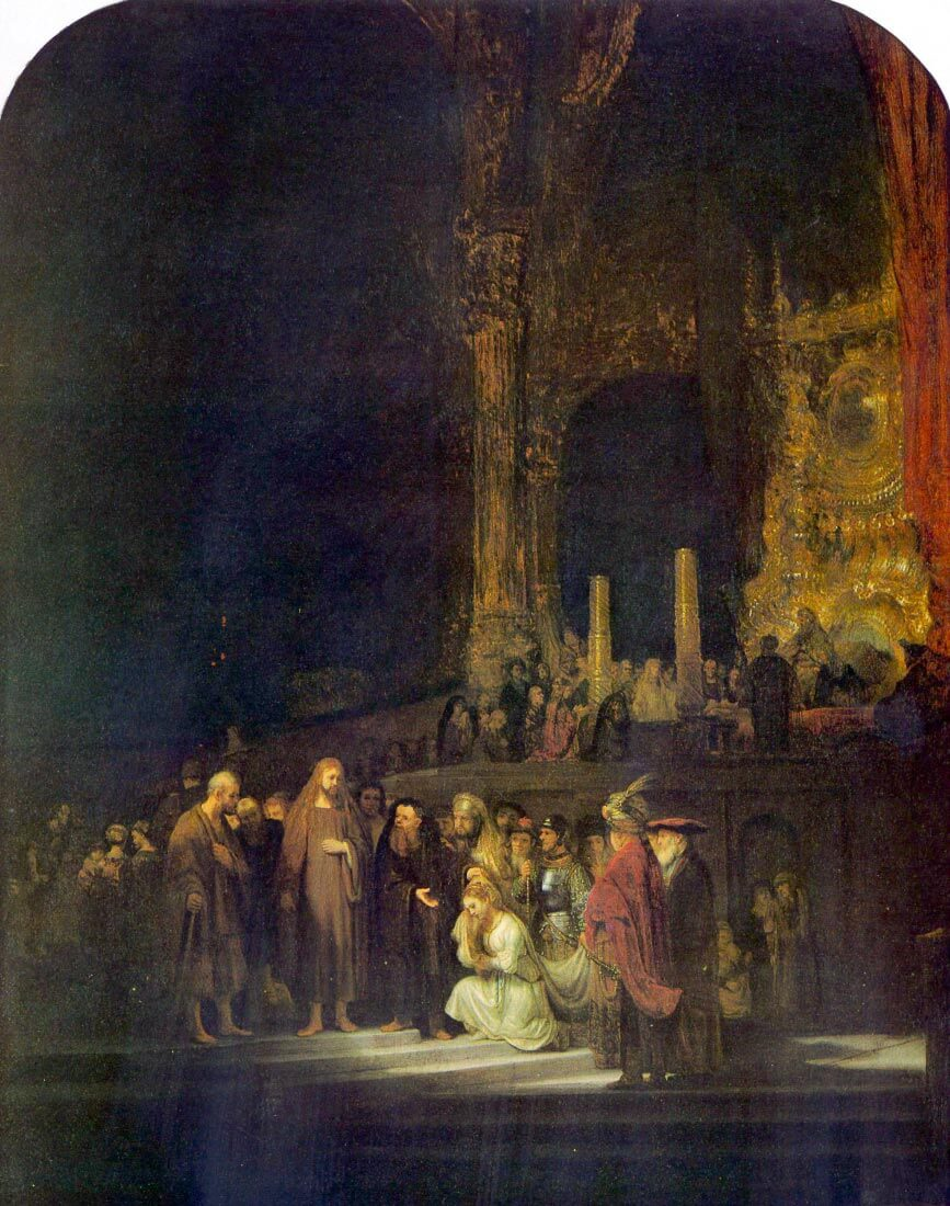 Christ and the Adulteress - Rembrandt