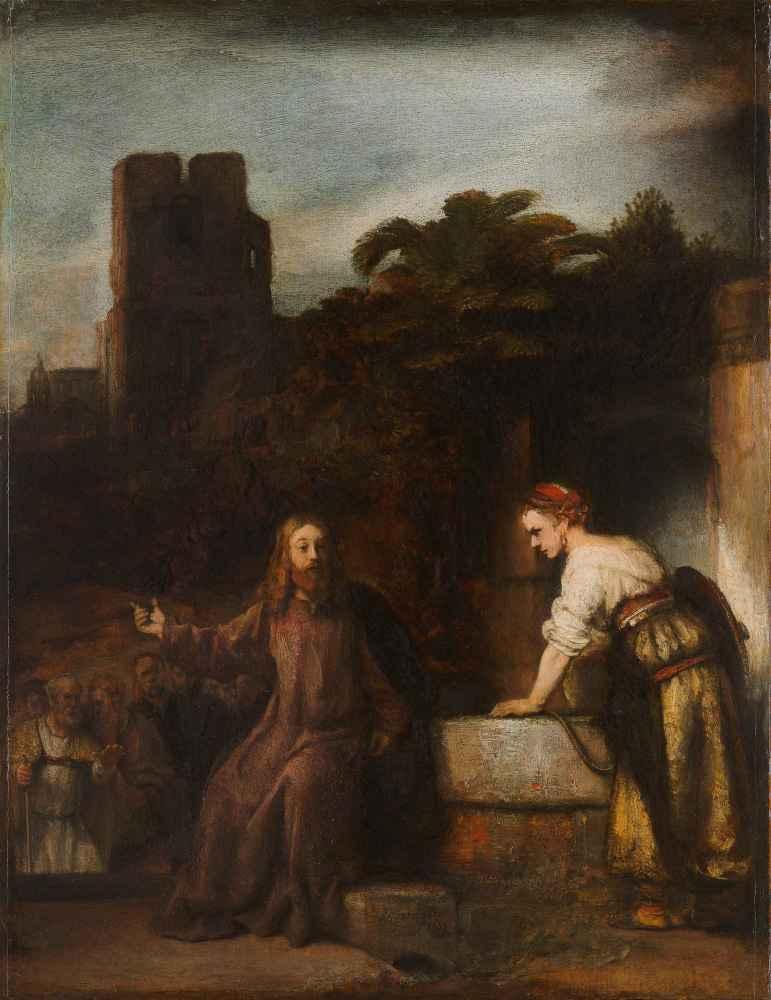 Christ and the Woman of Samaria - Rembrandt Harmenszoon van Rijn
