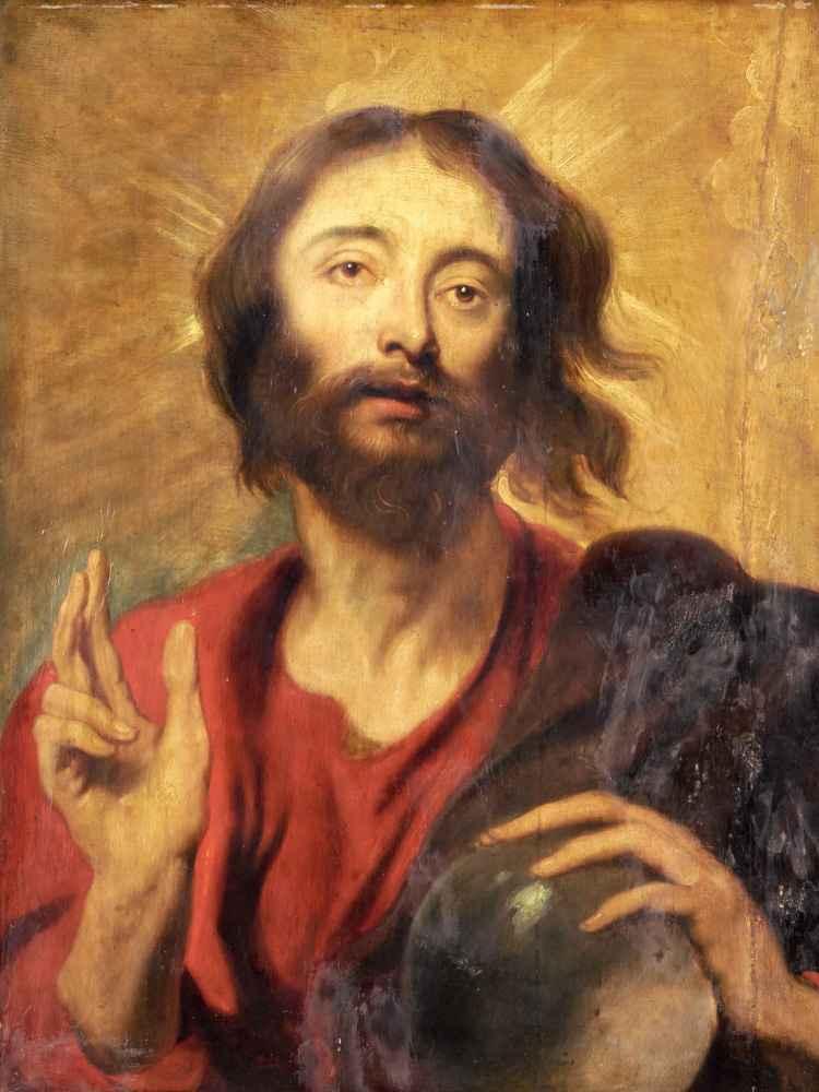 Christ as Saviour of the World - Antoon van Dyck