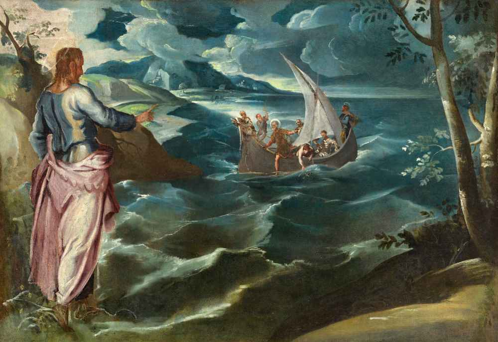 Christ at the Sea of Galilee - Jacopo Tintoretto