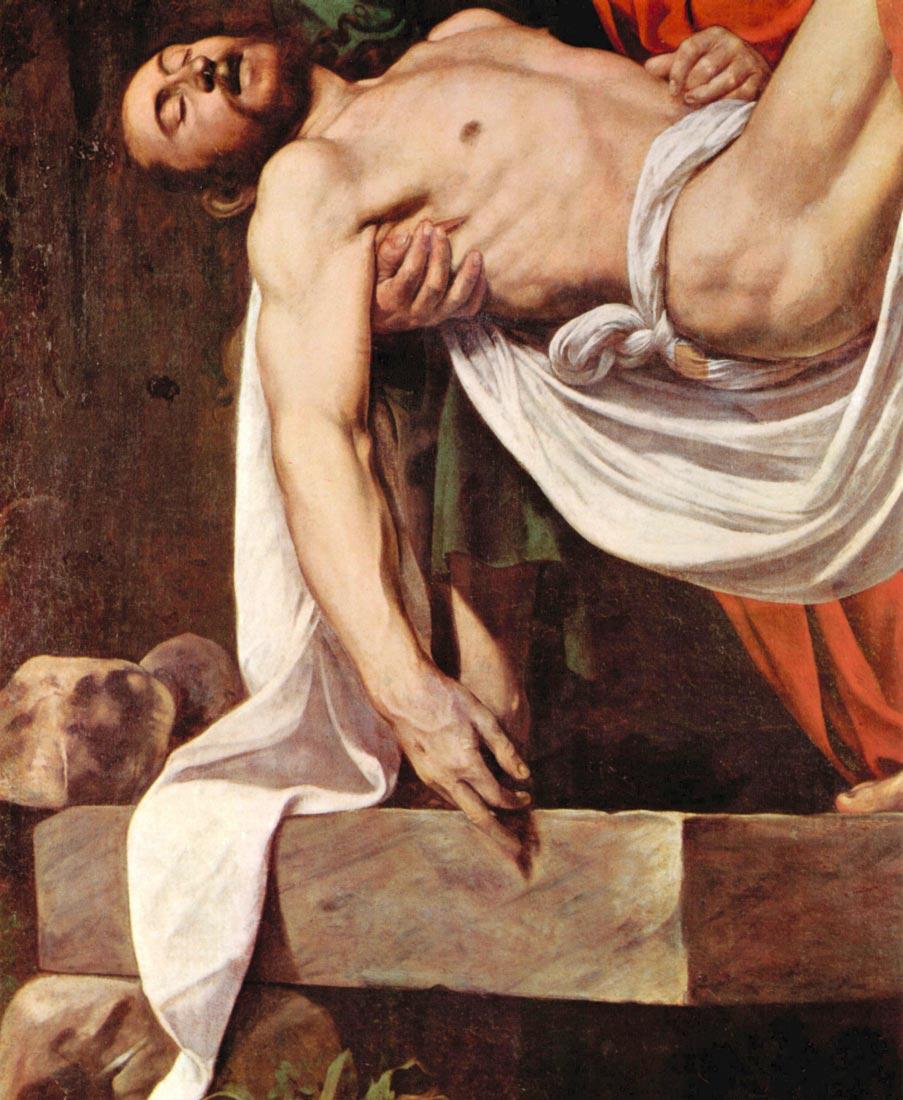 Christ burial detail 2 - Caravaggio