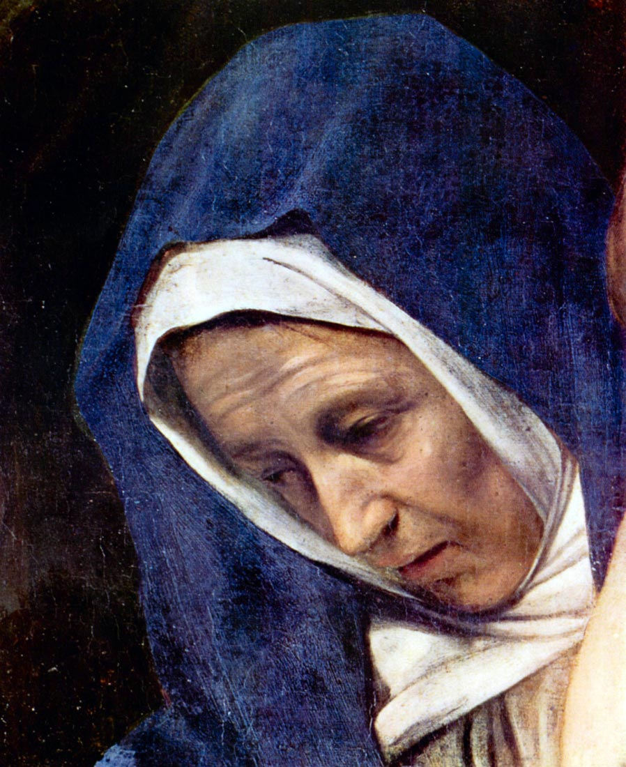 Christ burial detail - Caravaggio