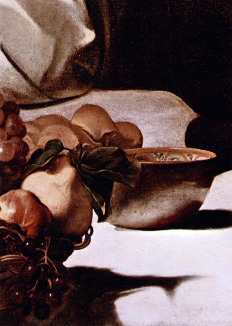 Christ in Emmaus detail fruits - Caravaggio