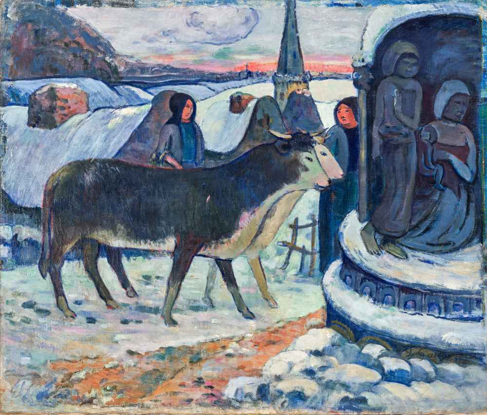 Christmas Night (The Blessing of the Oxen) - Paul Gauguin