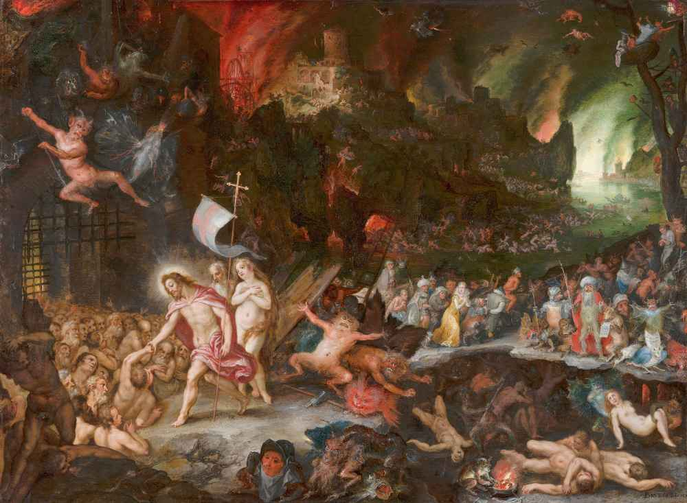 Christs Descent into Limbo - Pieter Bruegel (starszy)