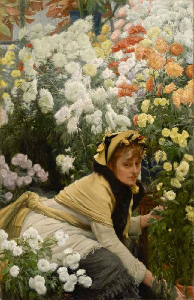 Chrysanthemums - James Tissot