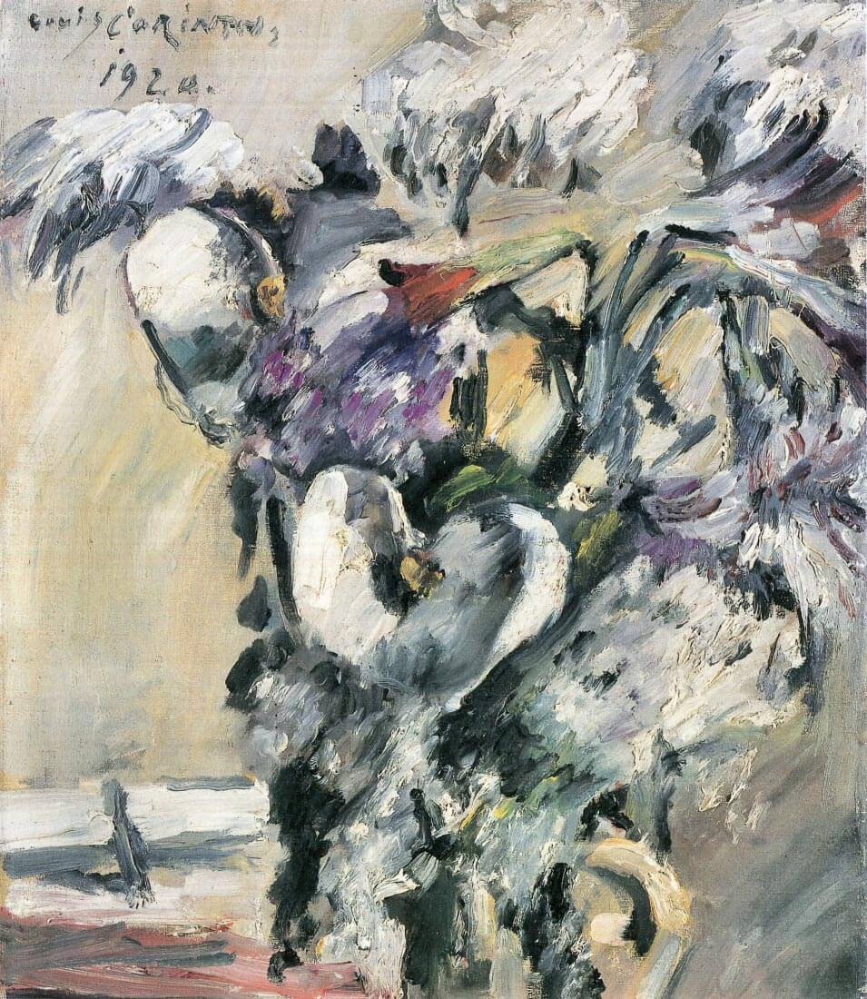 Chrysanthimums and Calla Lillies - Lovis Corinth