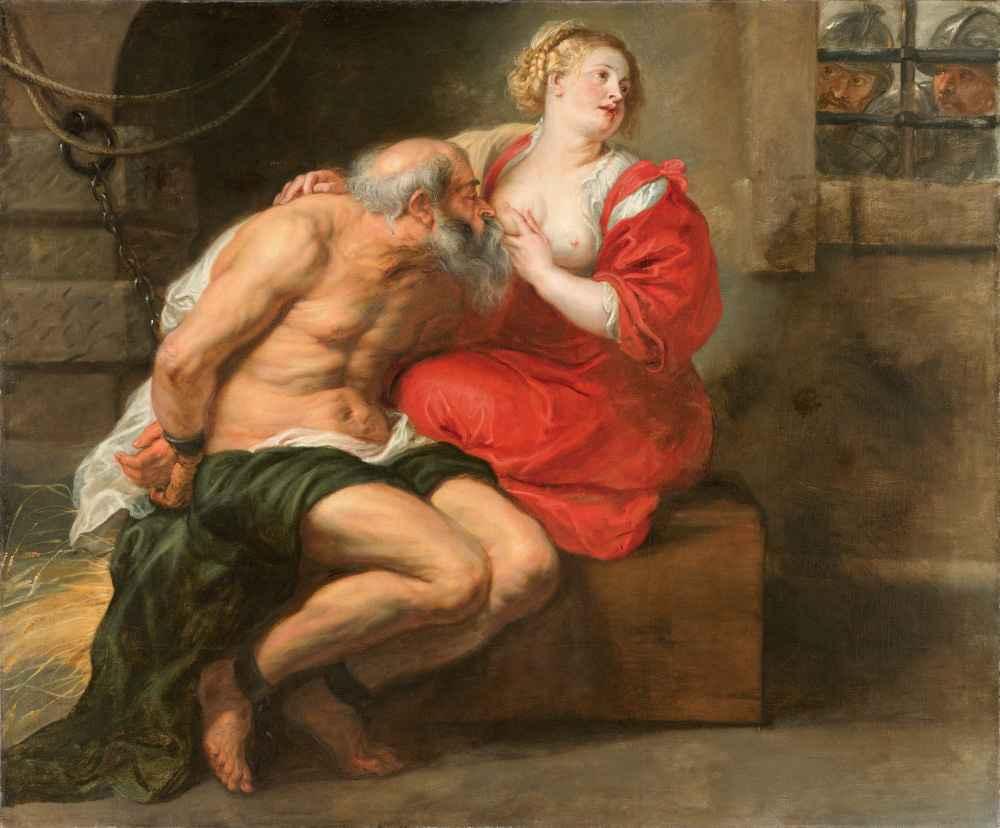 Cimon and Pero, - Peter Paul Rubens