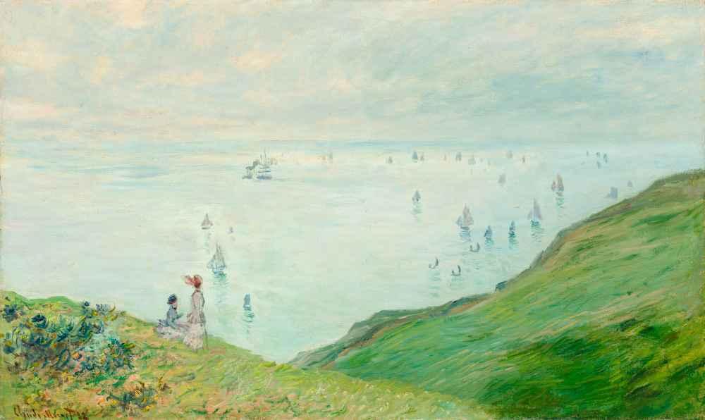 Cliffs at Pourville - Claude Monet