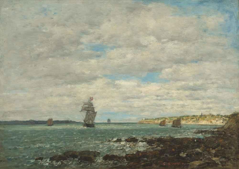 Coast of Brittany - Eugene Boudin
