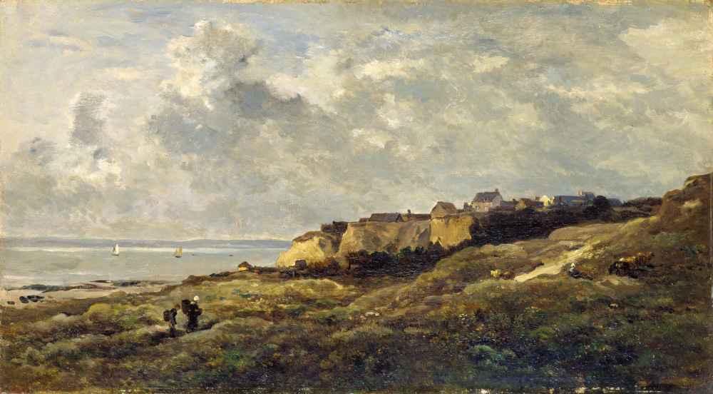 Coastal Landscape in Normandy - Charles-Francois Daubigny