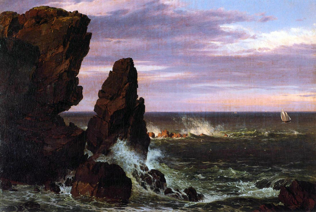 Coastal scene - Frederick Edwin Church