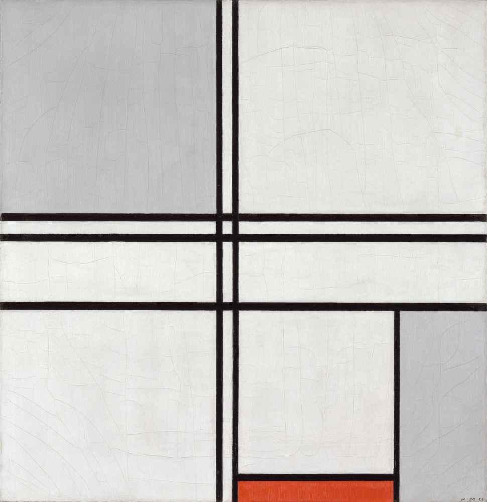 Composition (No. 1) Gray-Red - Piet Mondrian