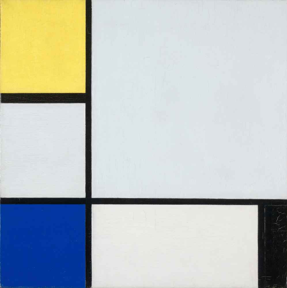 Composition with Yellow, Blue, Black and Light Blue - Piet Mondrian