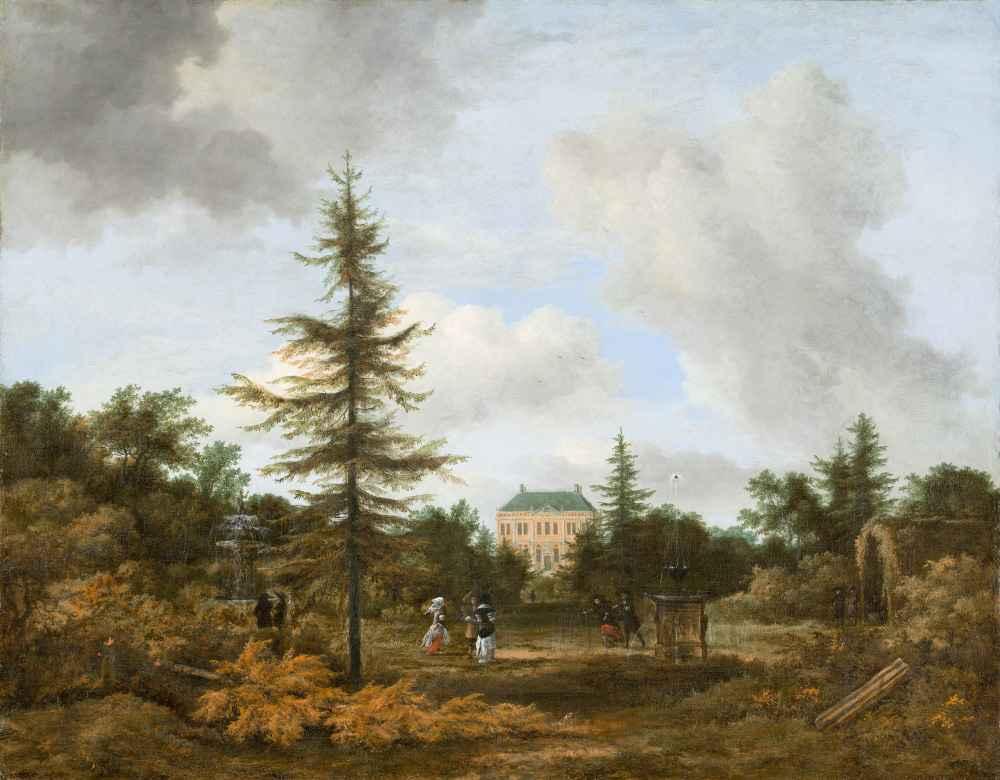 Country House in a Park - Jacob van Ruisdael