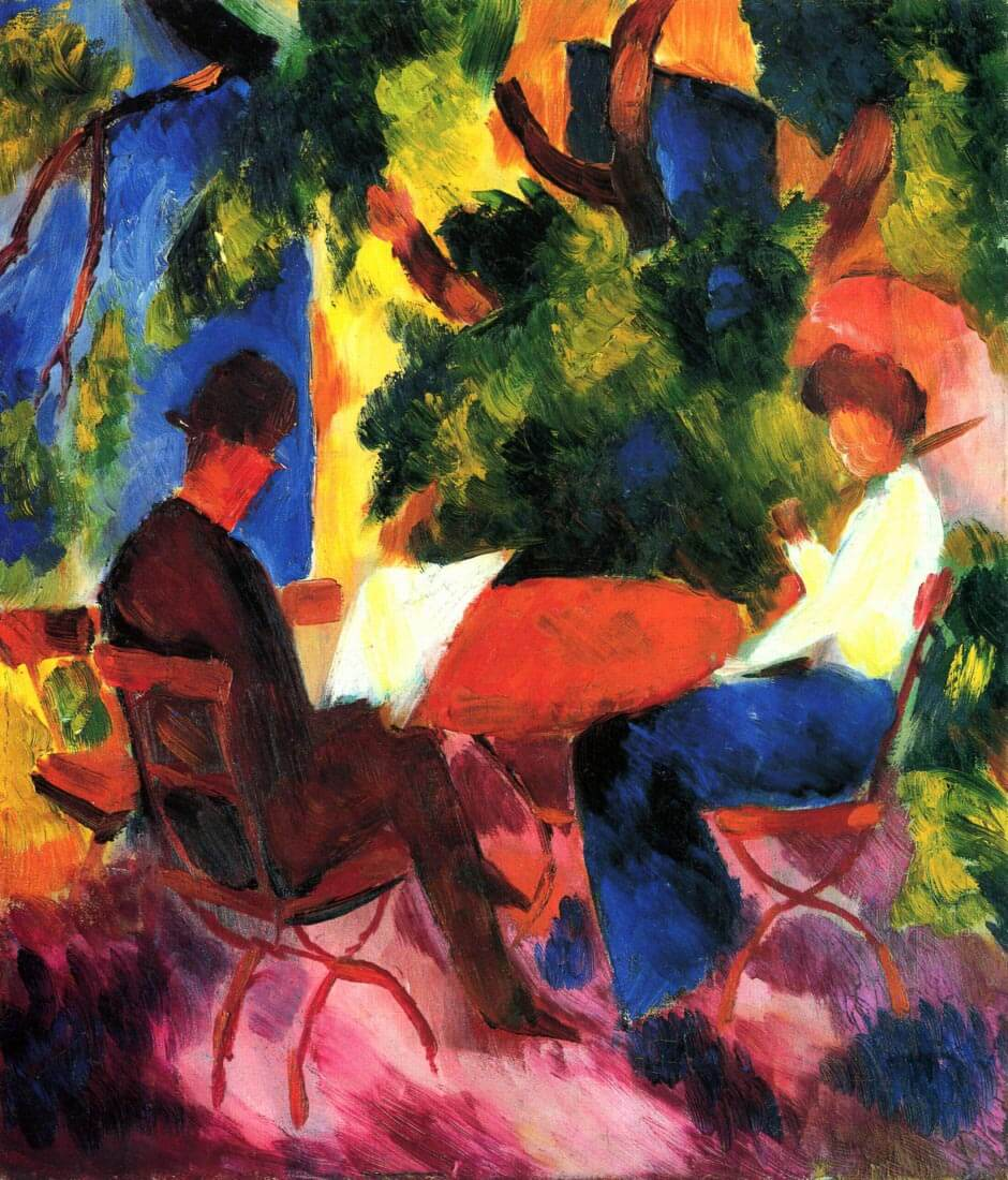 Couple at the garden table - August Macke