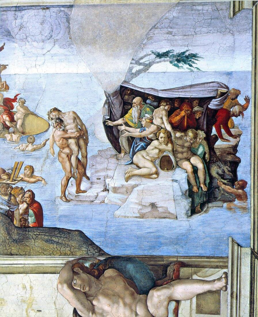Creation Story - The Deluge - Michelangelo
