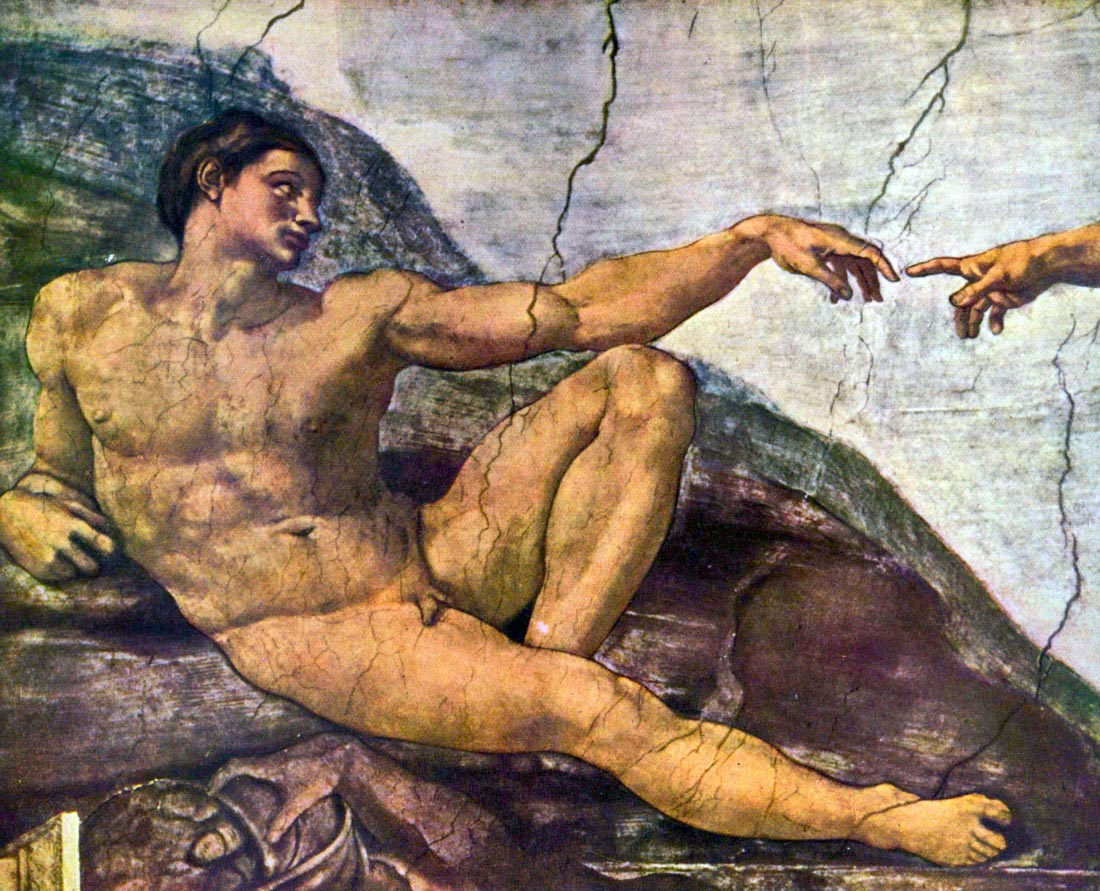 Creation of Adam detail - Michelangelo