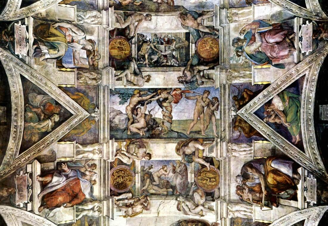 Creation story, detail - Michelangelo