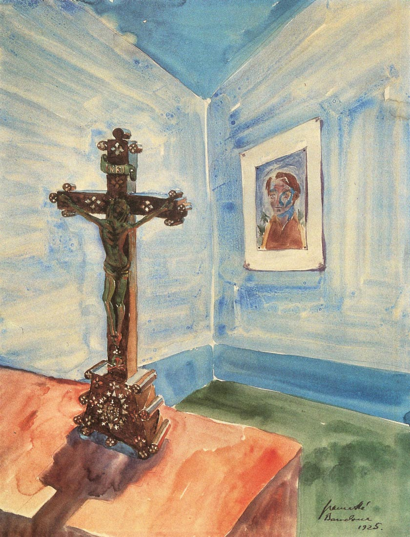 Crucifix in the room - Walter Gramatte