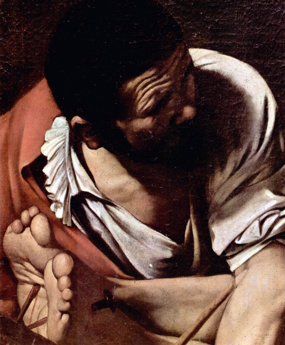 Crucifixion of St. Paul detail - Caravaggio