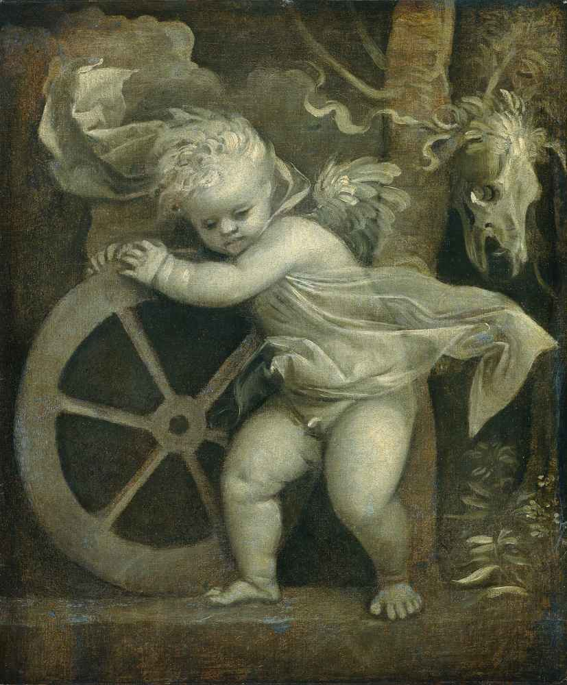 Cupid with the Wheel of Time - Tycjan