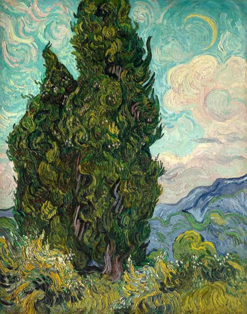 Cypresses 2 - Vincent van Gogh