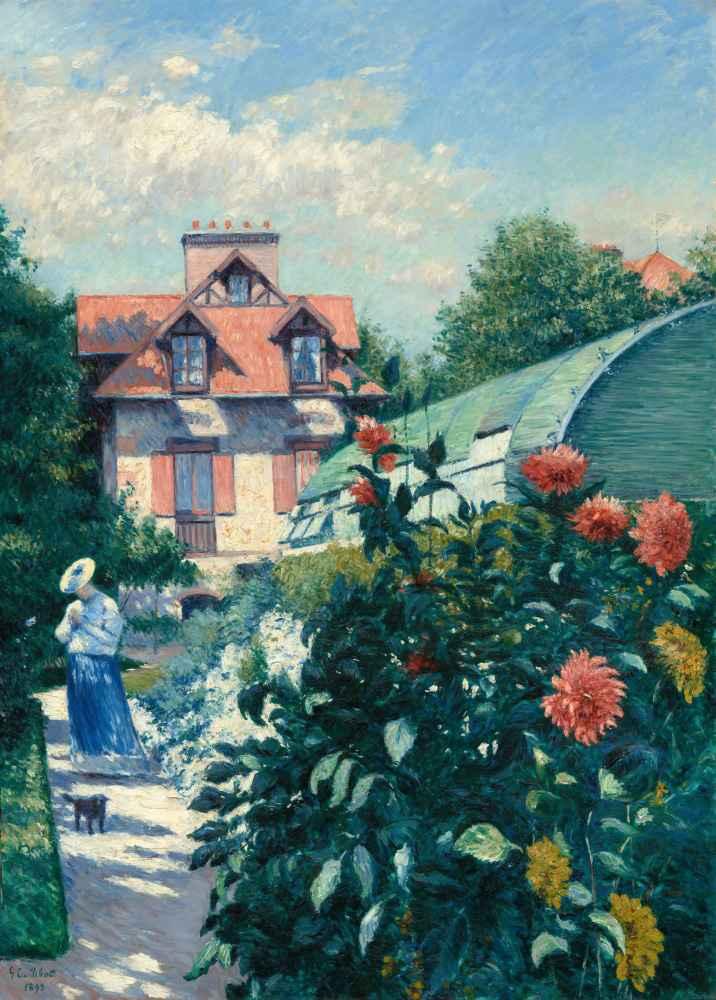 Dahlias, Garden at Petit Gennevilliers, 1893 - Gustave Caillebotte