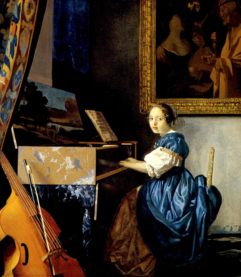 Dame on spinet - Vermeer