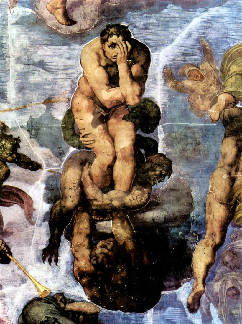Damned with figures of the underworld - Michelangelo