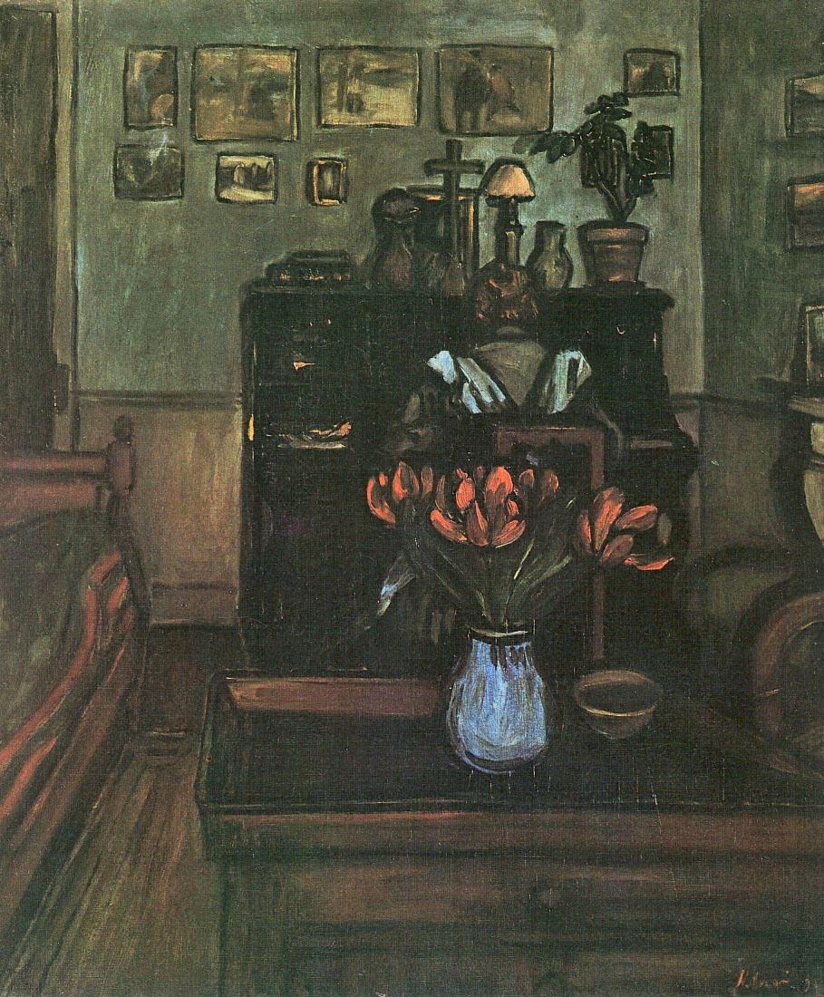 Dawn in an intimate room - Joseph Rippl-Ronai