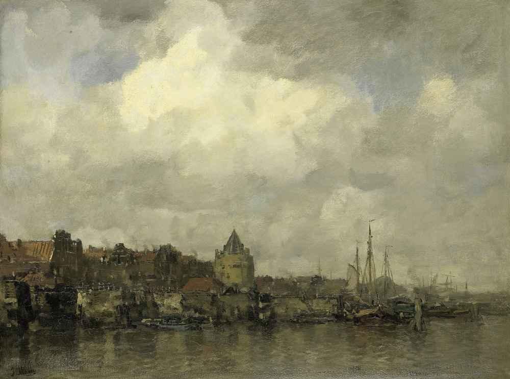 De Schreierstoren aan de Buitenkant te Amsterdam - Matthijs Maris