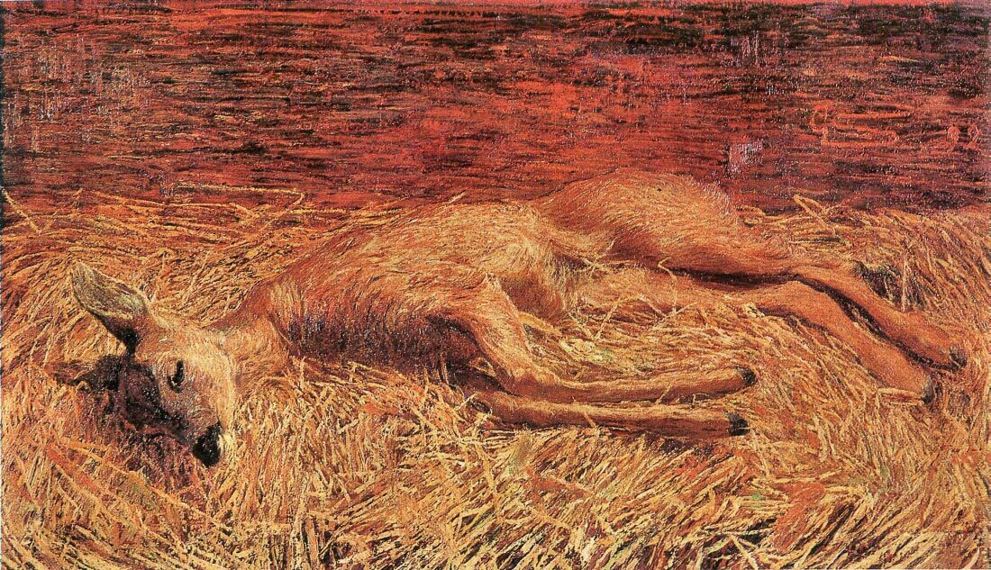 Dead deer - Albin Egger-Lienz