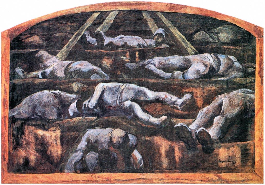 Dead victims, design (II) - Albin Egger-Lienz