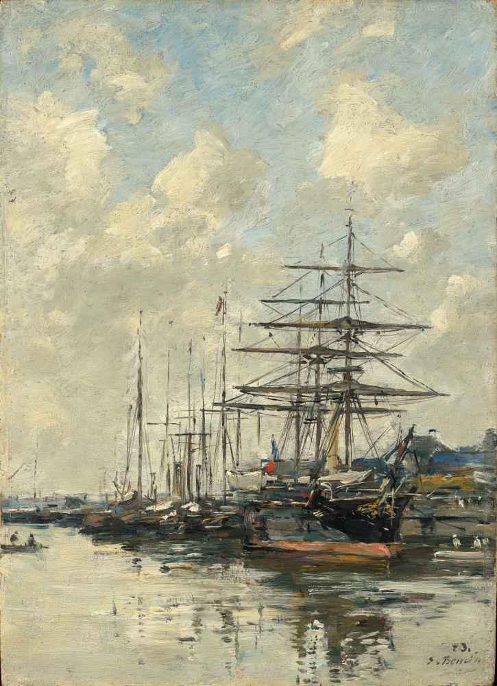 Deauville, the Boat Basin - Eugene Boudin