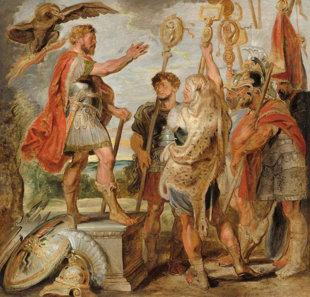 Decius Mus Addressing the Legions - Peter Paul Rubens